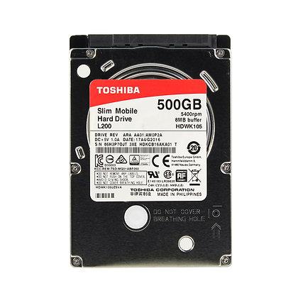 """Disco duro Toshiba L200 - 500GB SATA 6.0Gb/s 5400 RPM 2.5"""""""