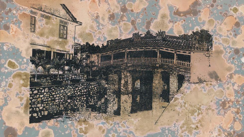 Puente Japonés – Hoi An. De la serie Miniprints. 12,5 x 20,4 cm. 2020