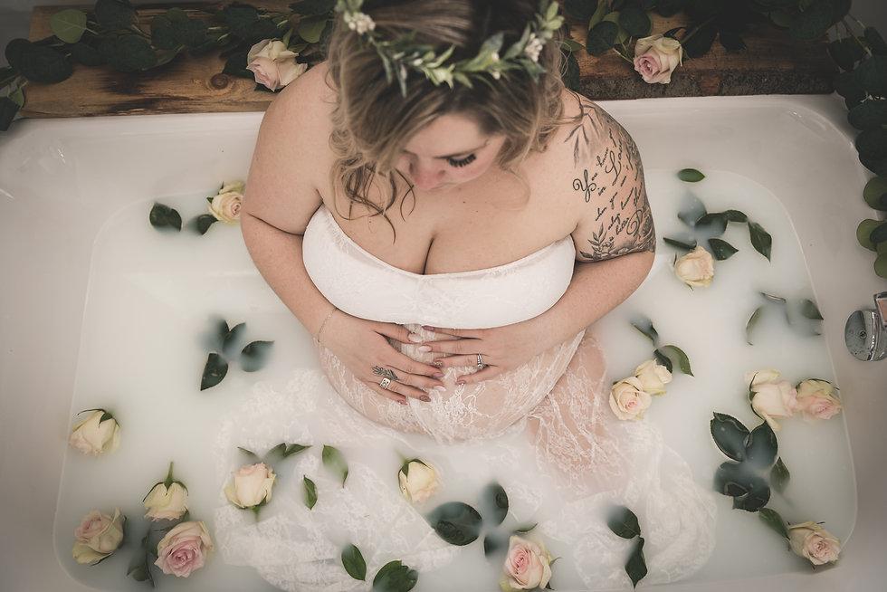 Maternité, bain de lait