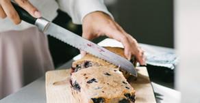 Glutenvrije blueberry kokos bananenbrood (vegan)