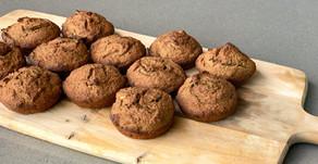 Simpele banaan proteïne muffins (glutenvrij, hormoonproof & vegan)