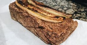 Vegan en glutenvrije chocolade bananenbrood met walnoten