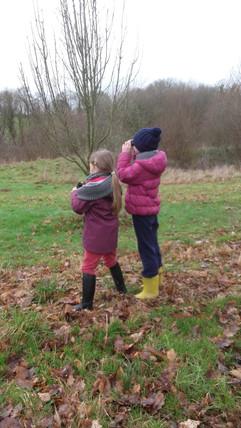 Deux petites ornithologues de renom!!!