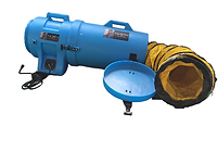 cyclone blower with ducting