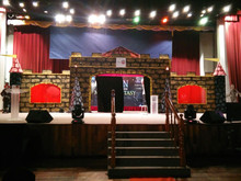 Stage decorations.