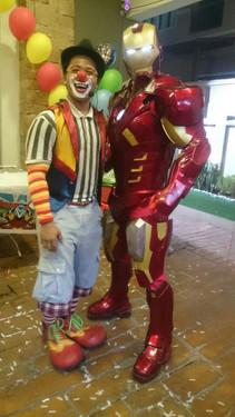Uncle Charlie the Clown, IronMan mascott.