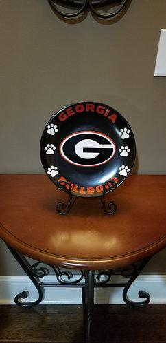 Georgia Bulldogs Decorative Sports Team Plate