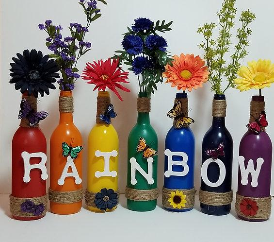 Wine bottles - Rainbow