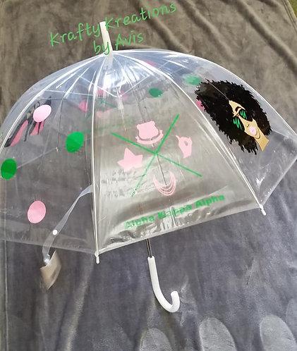 32 inch A.K.A See Thru Bubble Plastic Umbrella