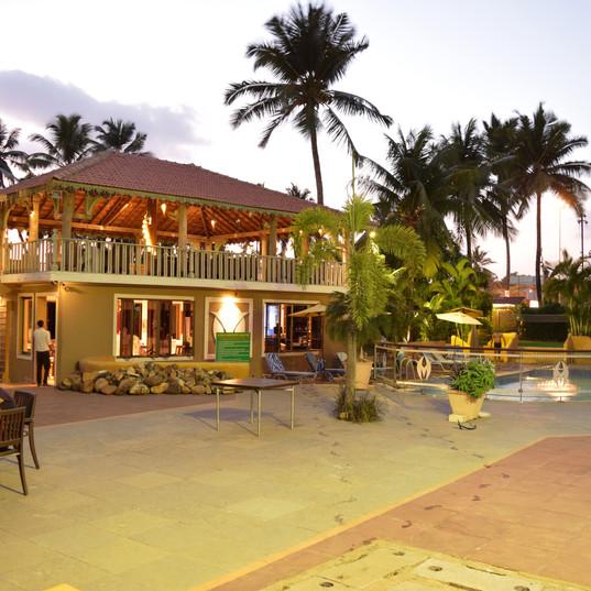 Shack and pool Evening Acacia Resort