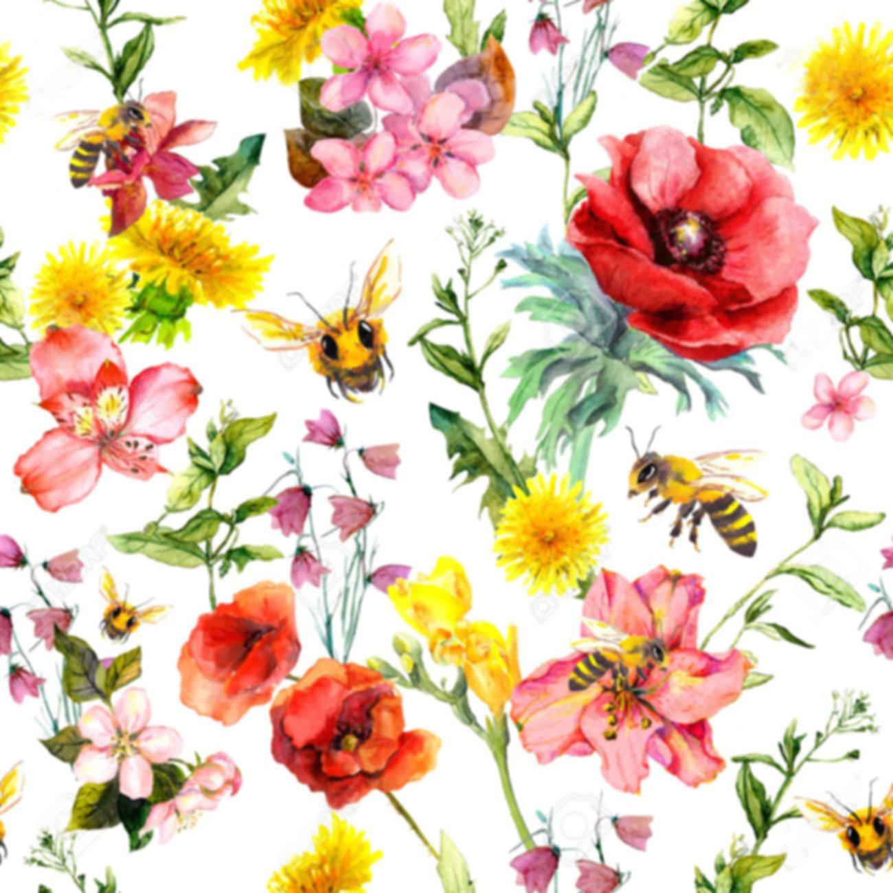 105043254-honey-bees-meadow-flowers-summ