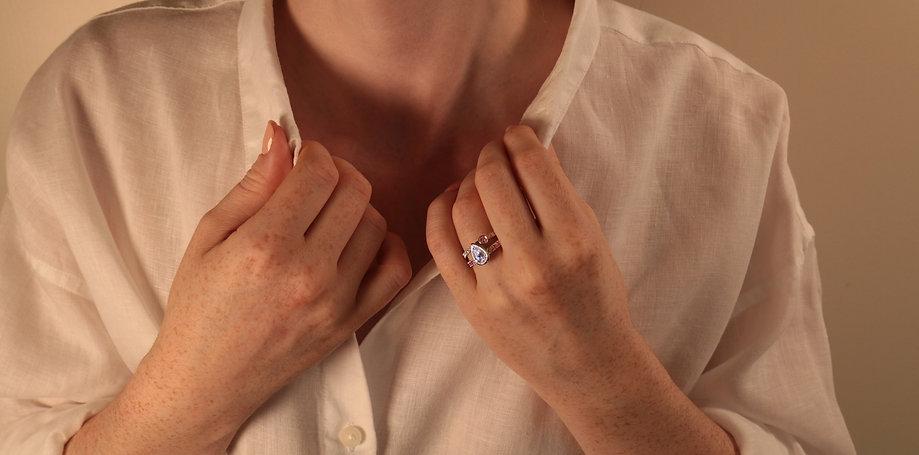 bespoke engagement and wedding rings, conscious responsible jewellery, lab grown diamond engagement rings, STEPHANIE VAN ZWAM Switzerland, ethical diamond engagement rings