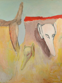 Desert or Fable. 1988. 64 x 54in. Acryli