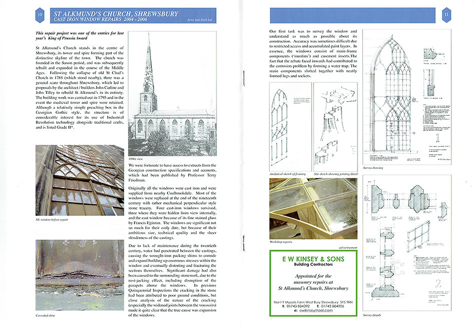St Alkmunds Church Shrewsbury - Renovations by E W Kinsey and Sons Builders