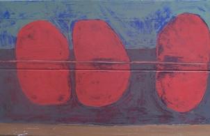 Red Birds (16 x 26 in.)