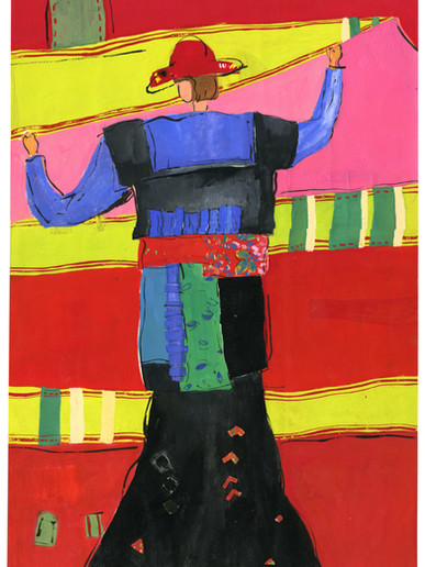 Eastern Costume 02 1992.17x11in