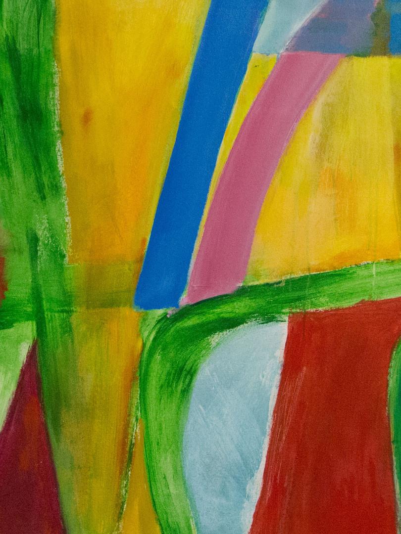 Harold Garde. Converging, 2008. Acrylic