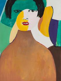 Harold Garde. Black Hair, 2007. Acrylic