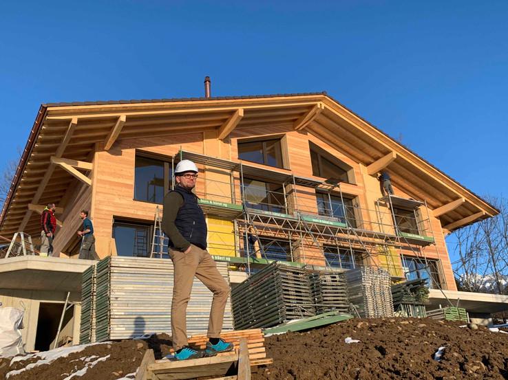 Holzbau und Baustelle