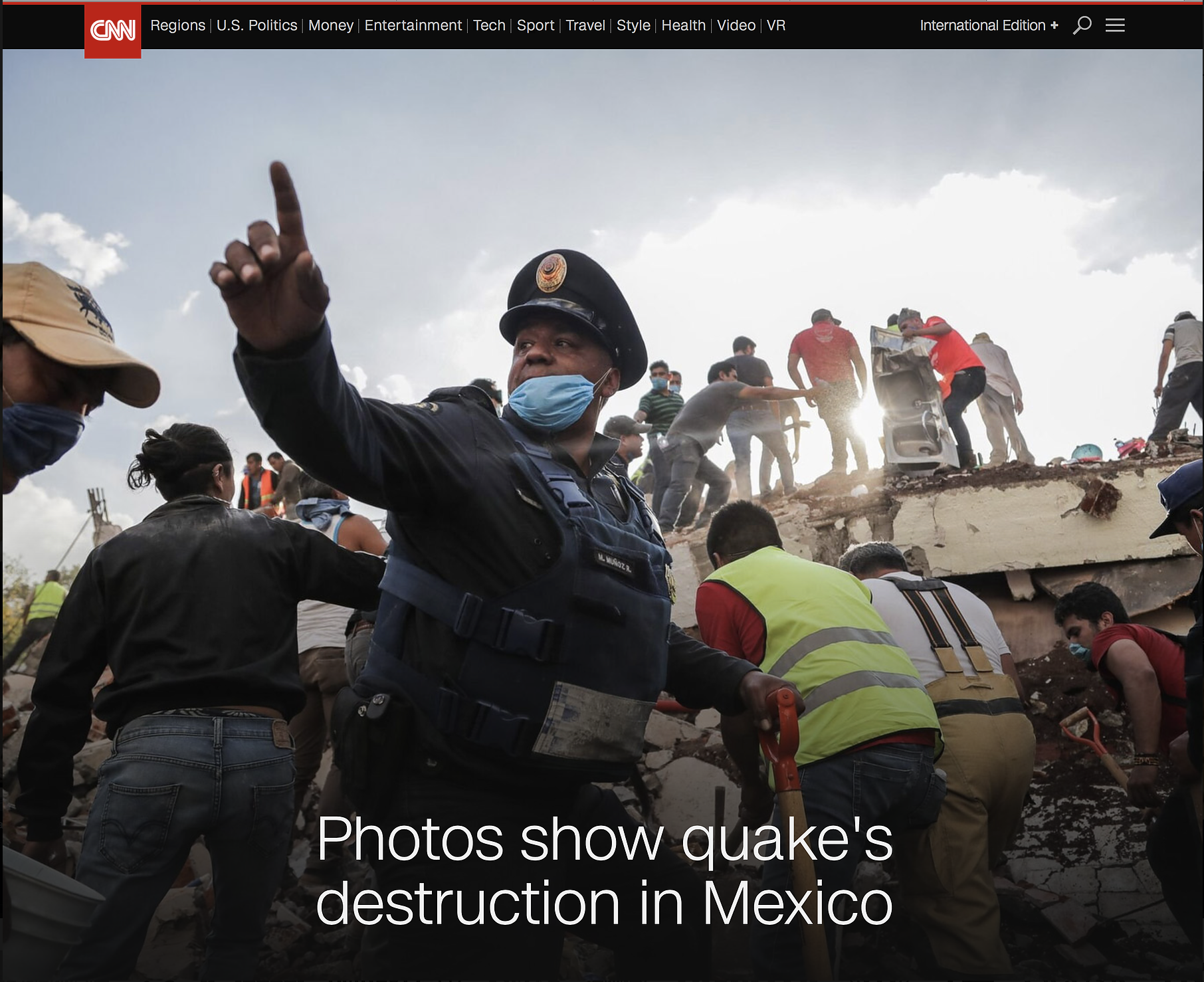 CNN - Mexico Earthquake