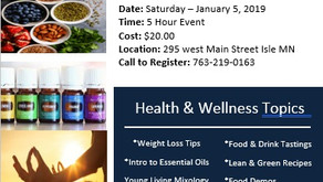 Health & Wellness Event January 5th. 10AM - 3PM