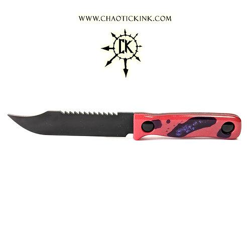 Glow Purple/red, Charcoal Sawback