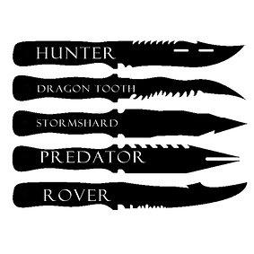 Acrylic Knives & Daggers Latest