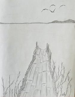 Pencil Sketch_Pier by Marina Aris.HEIC