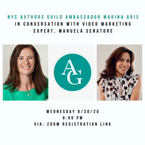 NYC Authors Guild Event: Video Marketing for Authors with Manuel Senatore of Skilla Productions