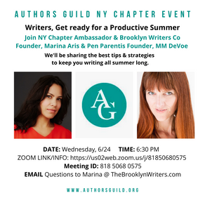 NYC Authors Guild Event: Summer Writing Plan
