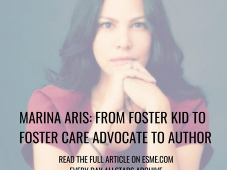ESME Feature: Single Mom Marina Aris from Foster Kid to Advocate to Author