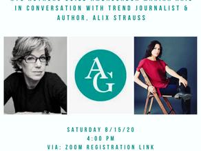 Marina Aris, NYC Authors Guild Ambassador Hosts Conversation with Journalist & Author Alix Strauss