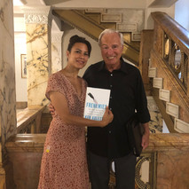 Marina Aris and Ken Auletta