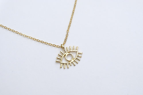 Talisman Evil Eye Necklace in Gold