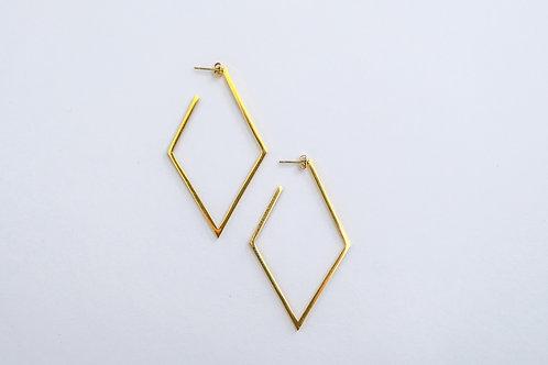 Geometric Rhombus Earrings