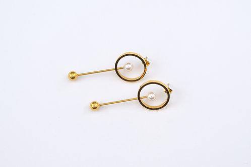 Pearl Long Drop Earrings