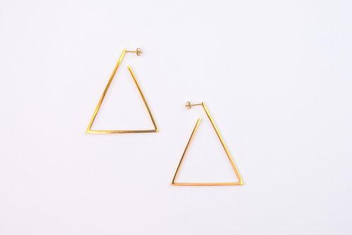 Geometric Triangle Earrings