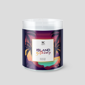 SC Candle Island Getaway Label
