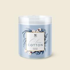 SC Candle Clean Cotton Label