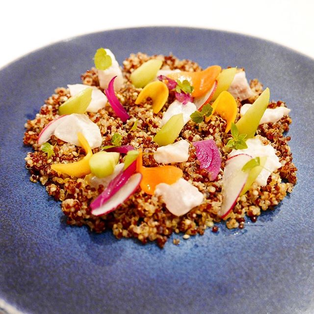 Food and art _#Ceviche #quinoa _restaurantlefrank #fondationlouisvuitton