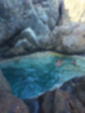 Natural pool St Barths