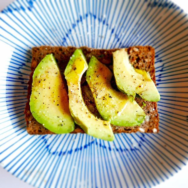 Perfect late breakfast before tonight's feast at Carousel 😊_#breakfast #avocado #smørrebrød #nottin