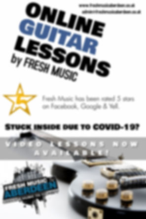 online guitar lessons promotion