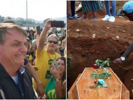 País supera 450 mil mortes por Covid-19 e Bolsonaro passeia em clima de campanha