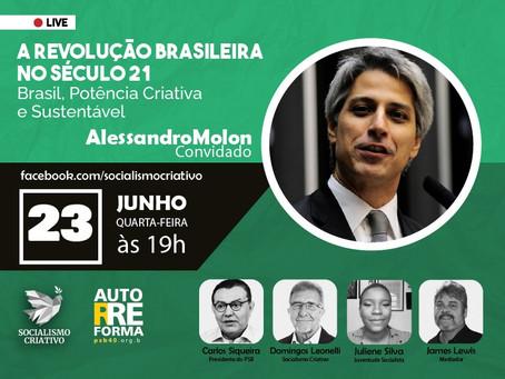 Autorreforma: Alessandro Molon é o convidado da live desta quarta