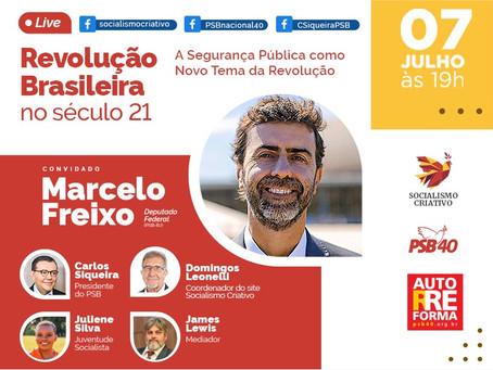 Autorreforma: Marcelo Freixo é o convidado da live desta quarta