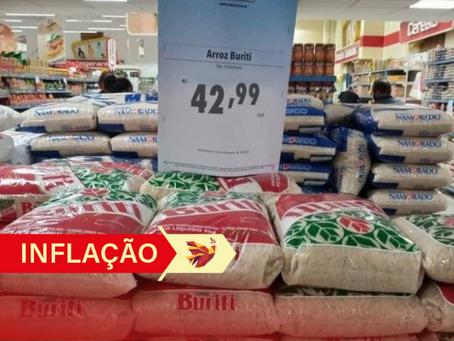 Inflação é a maior em 21 anos e cesta básica consome mais de 65% do salário mínimo