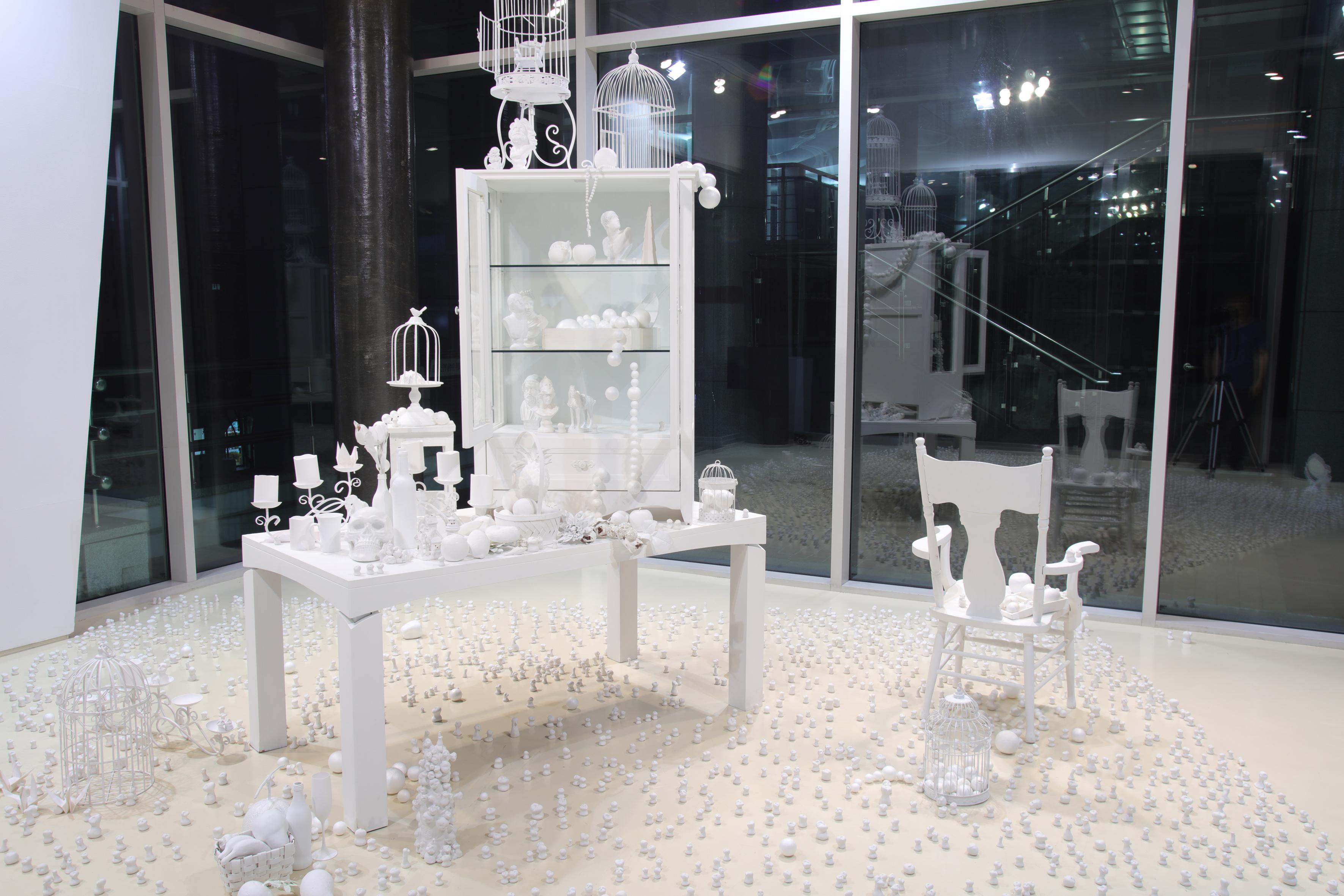 White void room