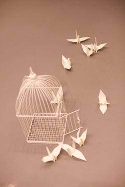 White void room, Origami