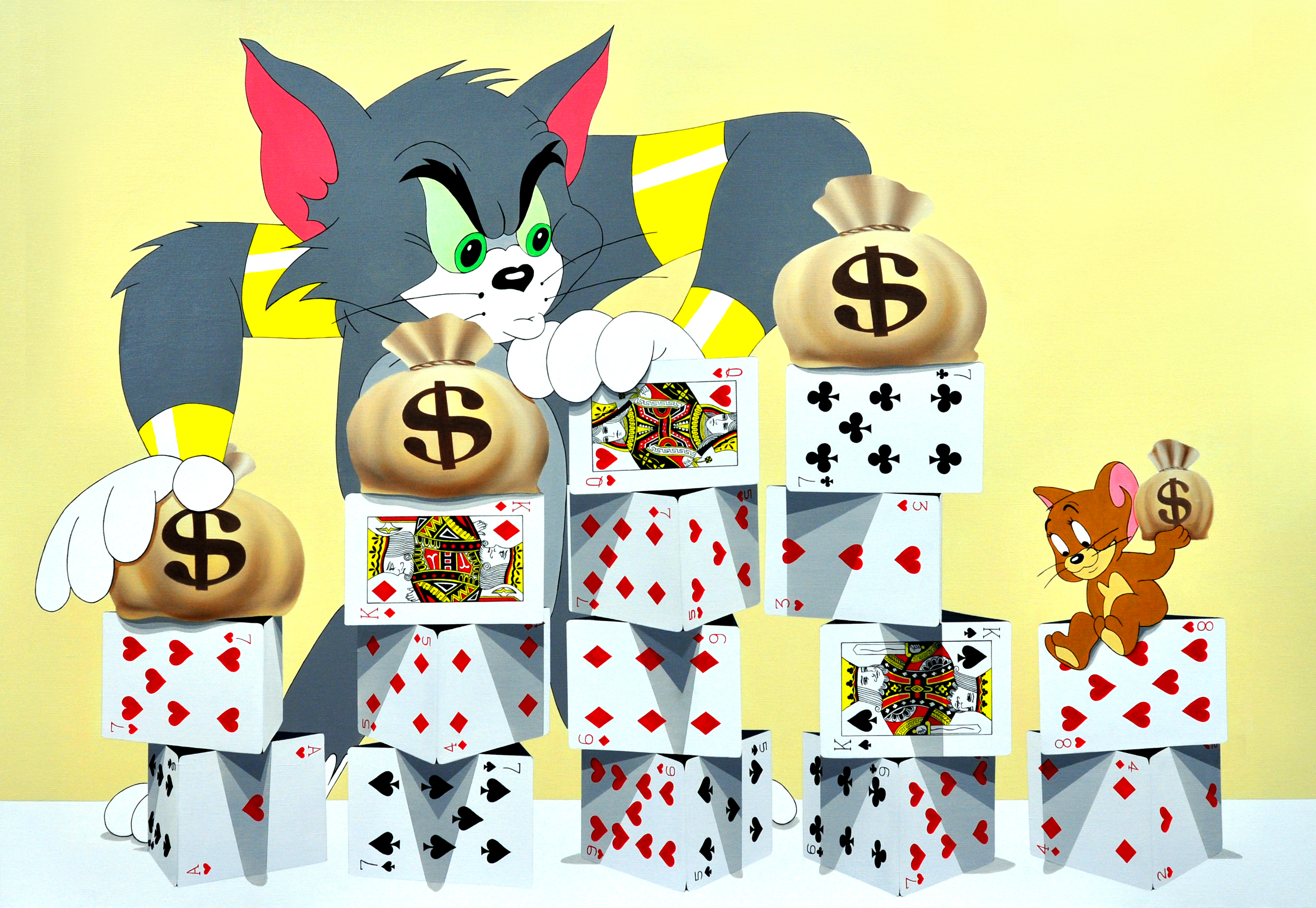 The Tower of Card-Tom and Jerry